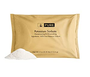 Potassium Sorbate (4 oz) Natural Preservative & Food Grade Stabilizer in Cooking, Homebrewing & Cosmetics, Made in USA