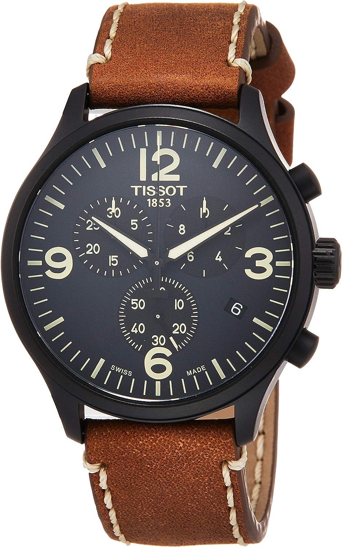 Tissot Reloj Cronógrafo para Hombre de Cuarzo con Correa en Cuero T1166173605700