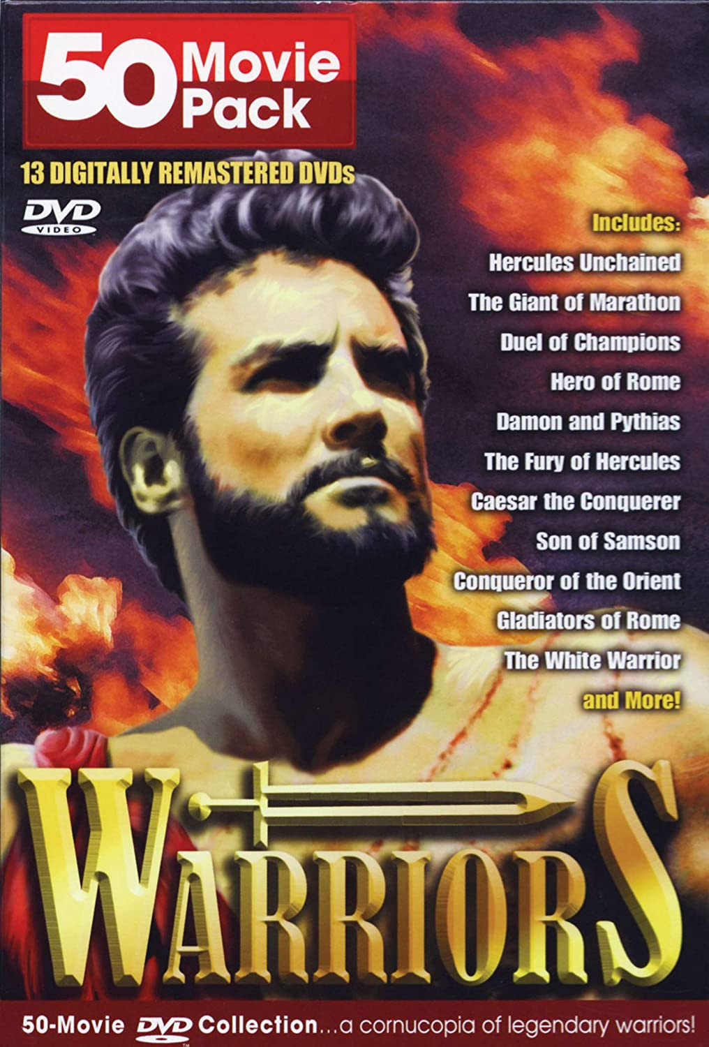 Amazon com: Warriors // 50 Movie Pack Collection / 13 Dvd
