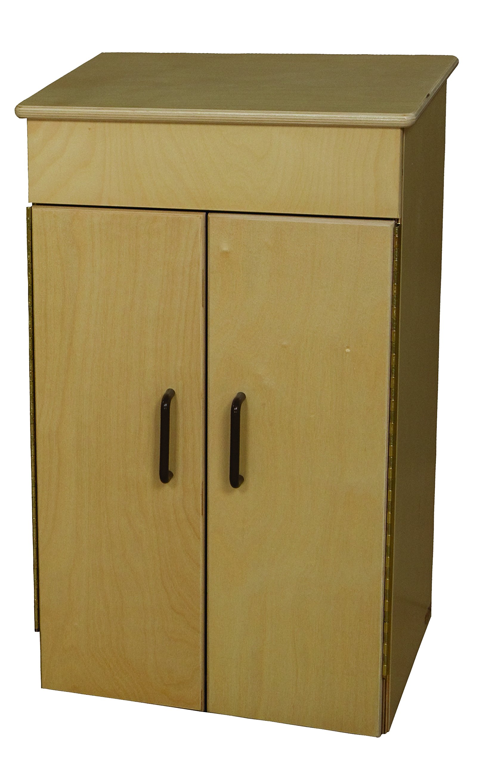 Wood Designs 20400BN Tot Refrigerator with Brown Knobs