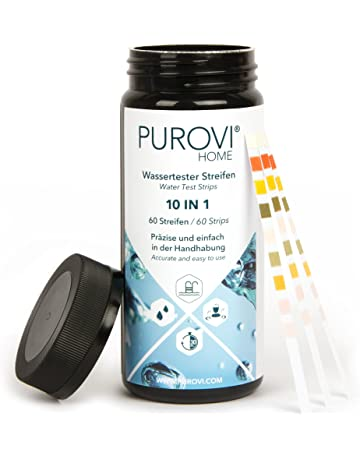 Purovi® Kit de Tiras para Análisis de Agua 10 en 1 | 60 Tiras para