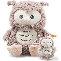 Steiff Soft Cuddly Friends Ollie Owl Music Box, Rose Brown
