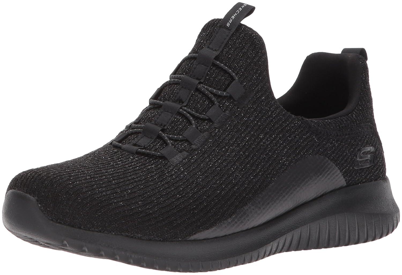 Skechers Women's Ultra Flex Sneaker B01MYAM5TS 9 B(M) US|Black/Black