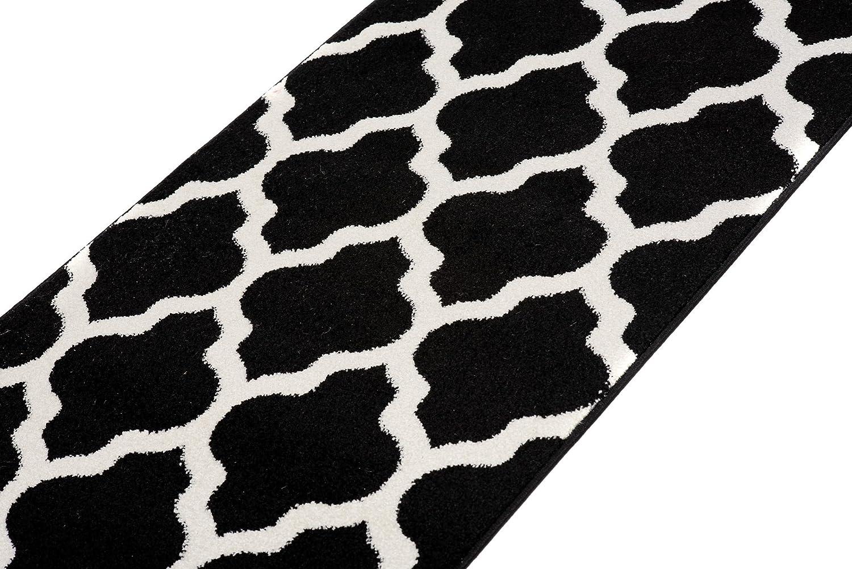 Carpeto Läufer Teppich Modern Grau Grau Grau 70 x 300 cm Marokkanisches Muster Kurzflor Furuvik Kollektion 32f769