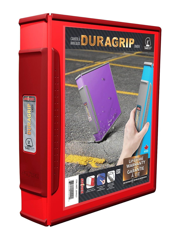 Storex DuraGrip View Binder, 2-Inch, D-Ring, White, Case of 4 (33583U04C) Storex Industries Corp.