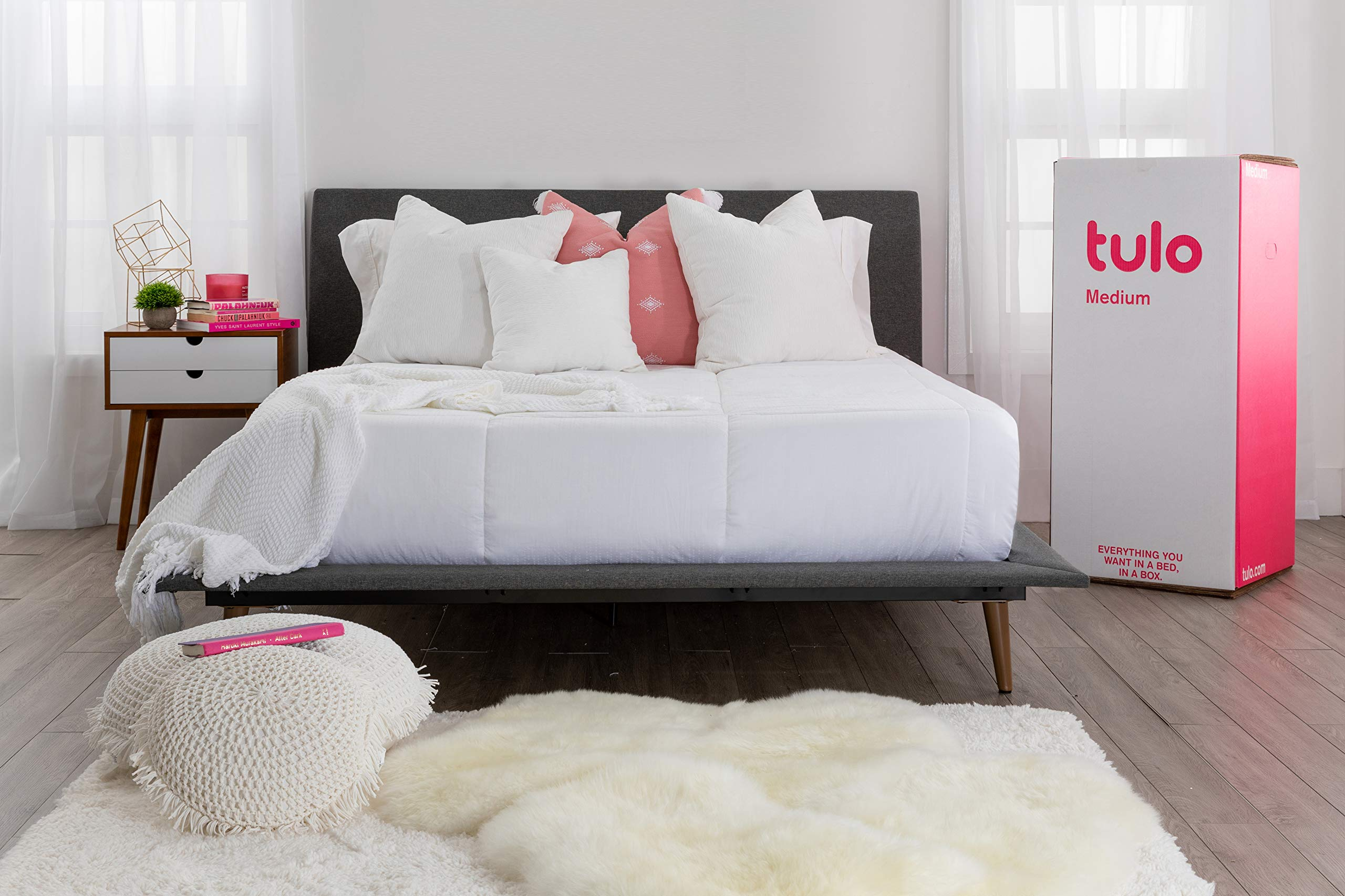 Mattress by tulo, Pick your Comfort Level, Medium Full Size 10 Inch Bed in a Box, Great for Sleep and Balance Between Soft and Firm by Tulo