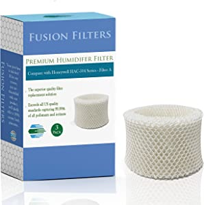 Fusion Filters - 3 Pack of Compatible Humidifier Filters - Replacement for Honeywell HAC-504, HAC-504AW & HAC-501V1 Series (Filter A)