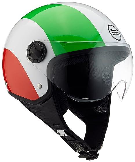 BHR 70613 Casco Moto Demi-Jet Linea One 801, Italia Flag, L (
