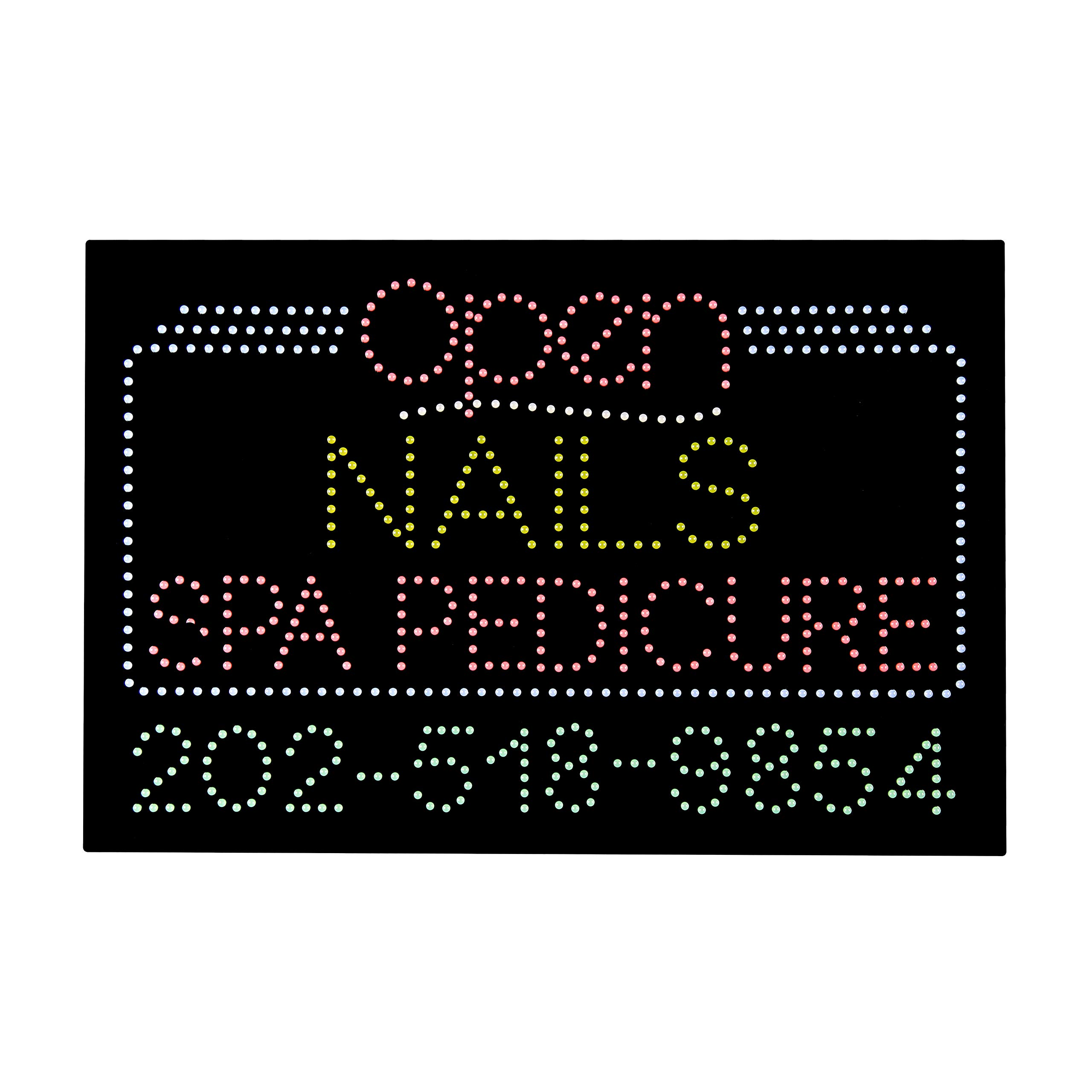 LED Nails Spa Pedicure Open Light Sign Super Bright Electric Advertising Message Display Board for Business Shop Store Window Bedroom 36 x 24 inches by HIDLY (Image #2)