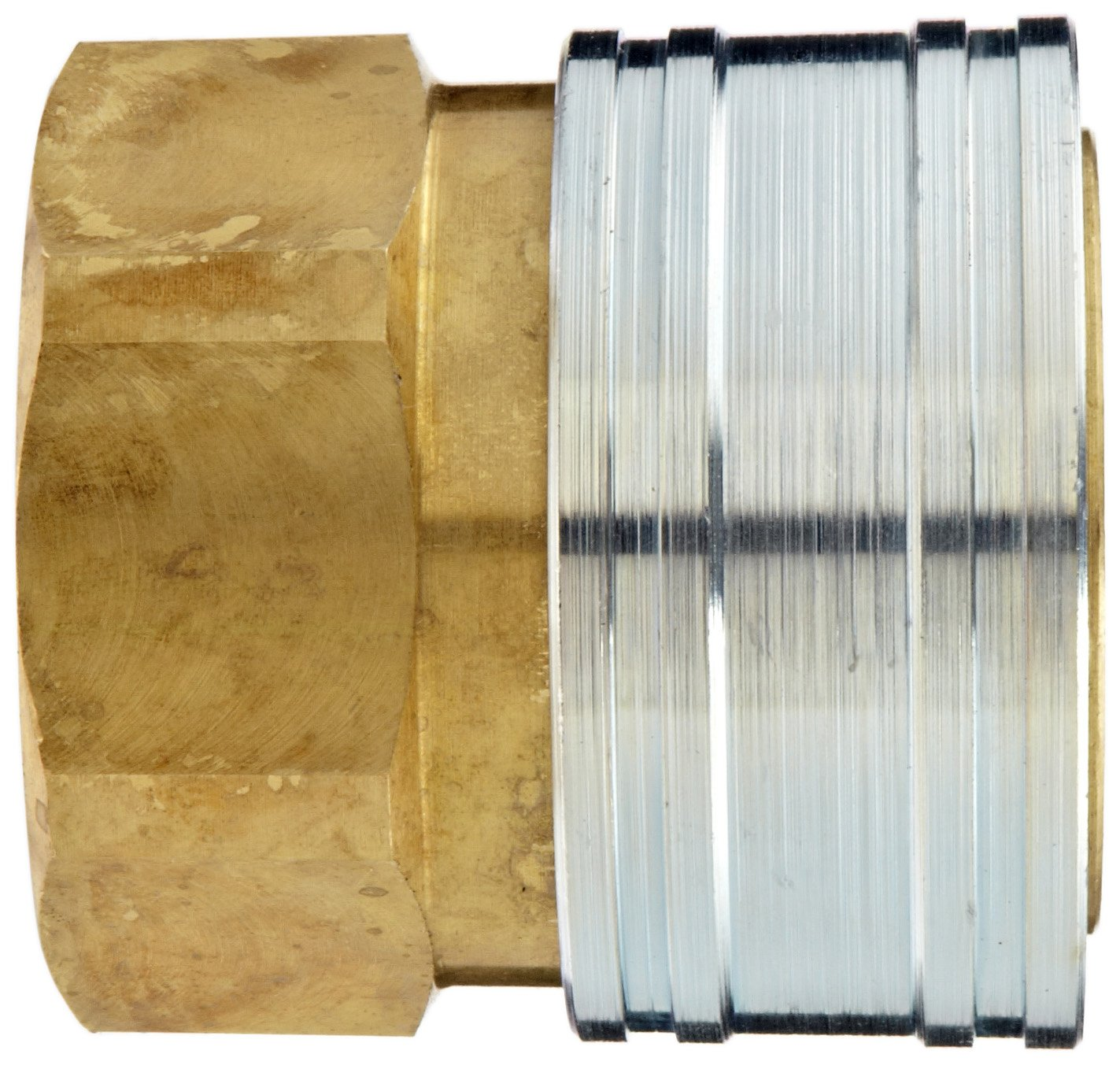 Dixon STFC10 Brass Hydraulic Quick-Connect Fitting, 1-1/4'' Female Coupling x 1-1/4''-11-1/2 NPTF Female by Dixon Valve & Coupling (Image #2)