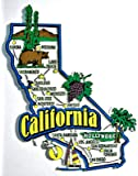 California Jumbo State Map Fridge Magnet