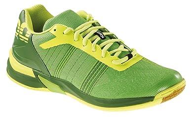 2af7658c5d167 Kempa Attack Three Contender, Chaussures de Handball Homme Vert (Hope  Grün fluo Gelb