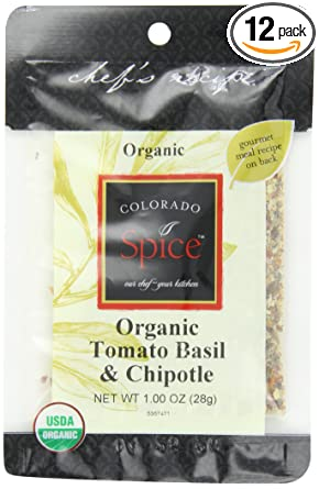 Colorado orgánico Tomate Albahaca Chipotle Frote, 1-Ounce ...