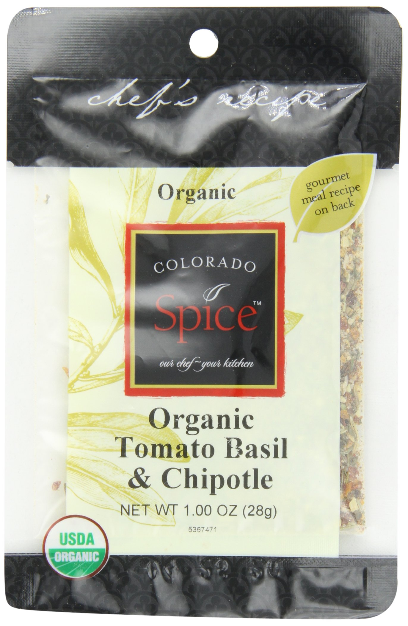 Colorado Spice Organic Tomato Basil Chipotle Rub, 1-Ounce Pouch (Pack of 12)