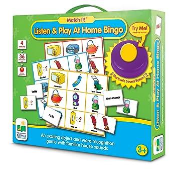 The Learning Journey Match It! Listen & Play Bingo, Home