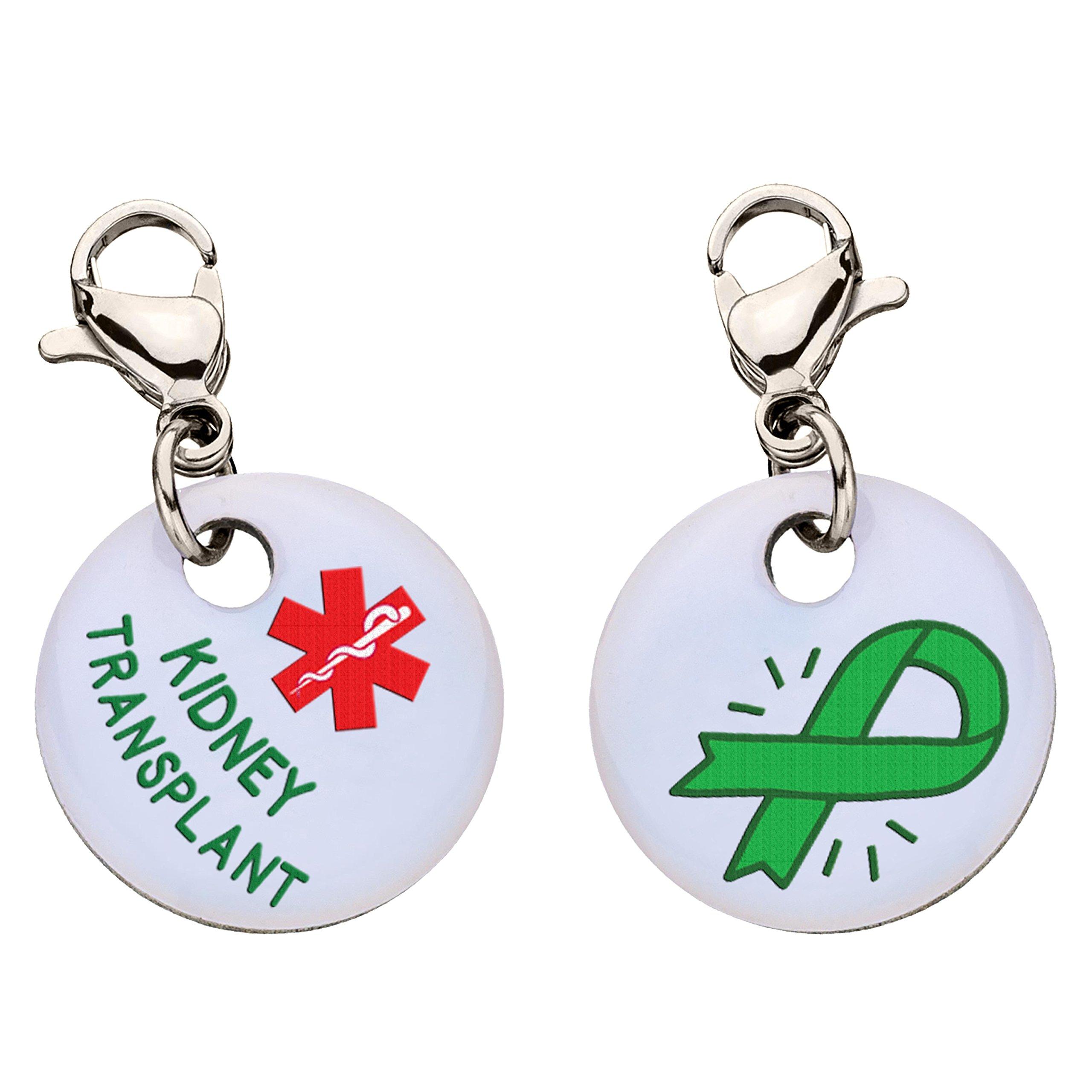 Kidney Transplant Snap-On Bracelet Charm-Parent (Stainless Steel)