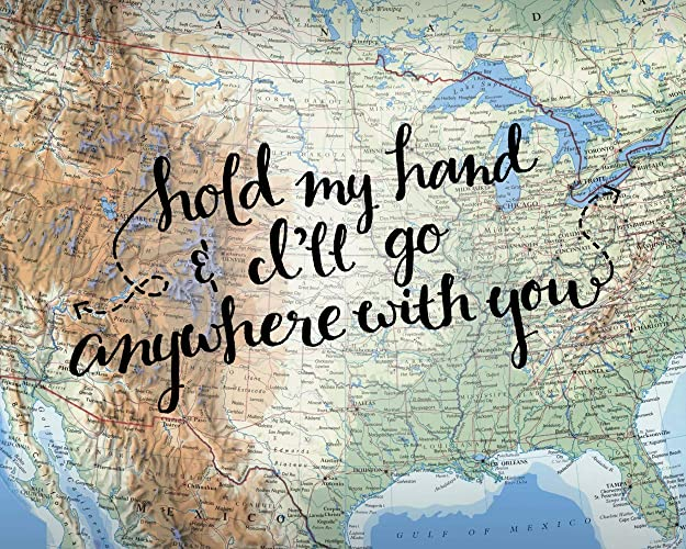 Us Map Artwork.Amazon Com Love Quote Us Map Wall Decor Wedding Gifts Artwork Hold