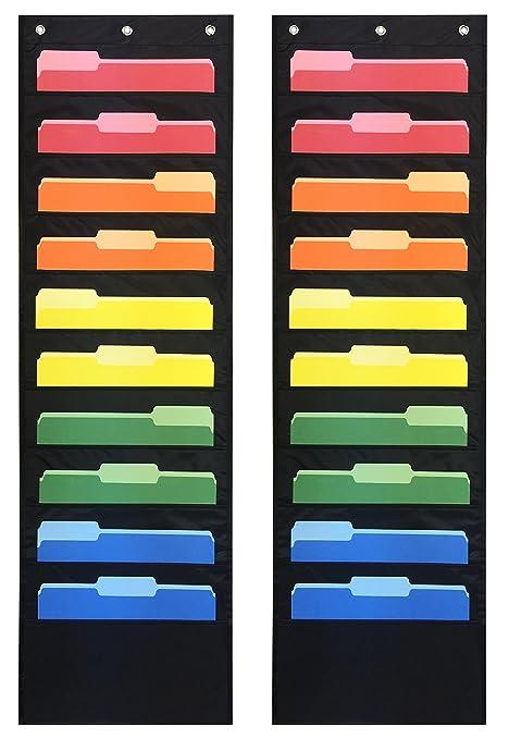 Essex Wares - Paquete de 2 archivadores de bolsillo, 10 archivadores para colgar en la