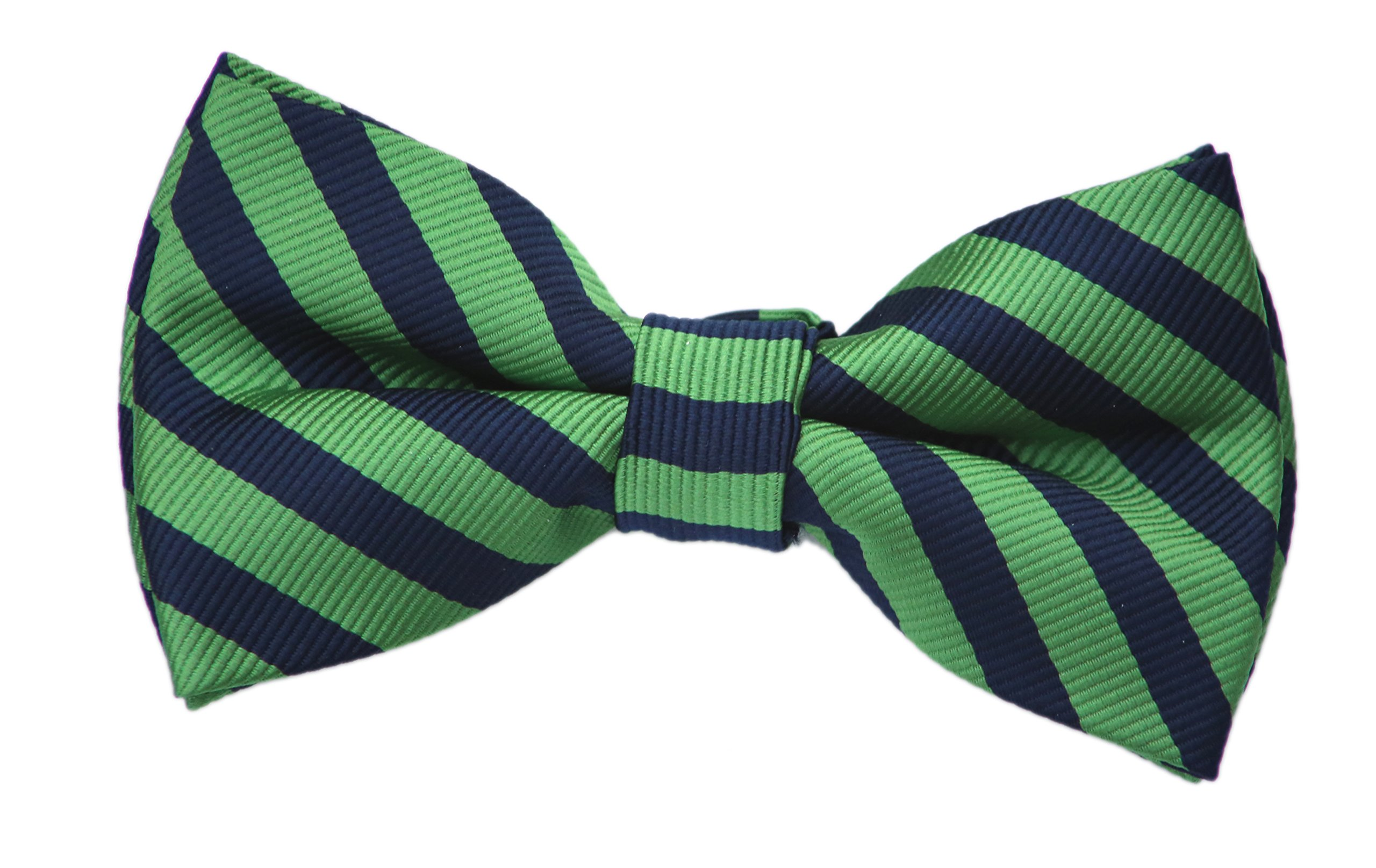 Born to Love Green and Navy Bow Tie (large( 8 years- up), green and navy) by Born to Love (Image #1)