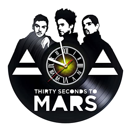 7b5265f76f5d4 Toffy Workshop Thirty Seconds to Mars - Vinyl Record Wall Clock - Exciting  music guest room