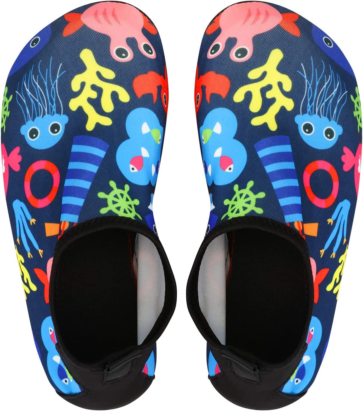 bridawn Kids Water Shoes Toddler Swim Shoes Quick Dry Non-Slip Barefoot Aqua Socks for Beach Pool