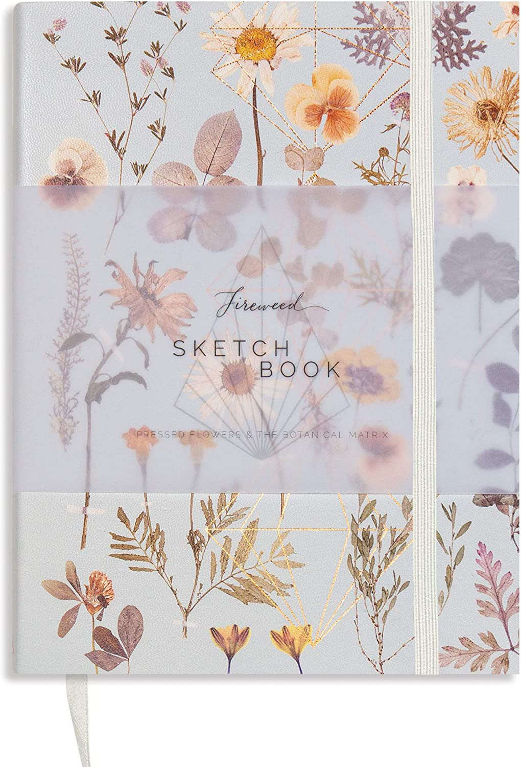 Fireweed: Sketchbook - Sketch Pads for Drawing - Blank Notebook for Home Office, Travel, Or School - Quality Sketchbook, Drawing Pad and Writing Journal (Golden Garden)