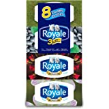 Royale Facial Tissue - Soft and Strong 3-ply - 72 Sheets Per Box - 8 Count - Variety of Box Designs