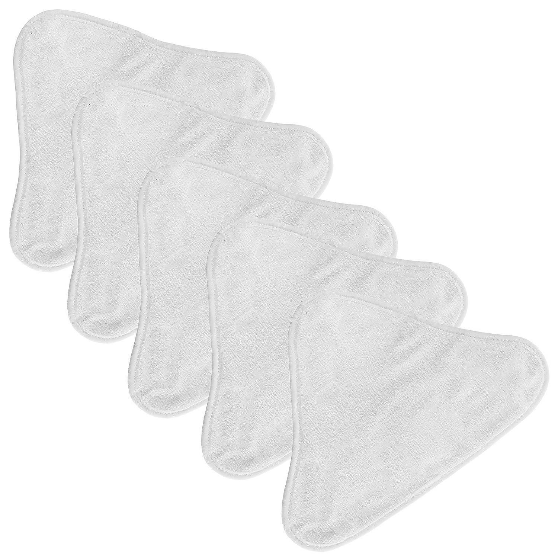 Almohadillas de limpieza Spares2go de microfibra triangulares para limpiadora de vapor, universales, lavables, paquete de 5 unidades