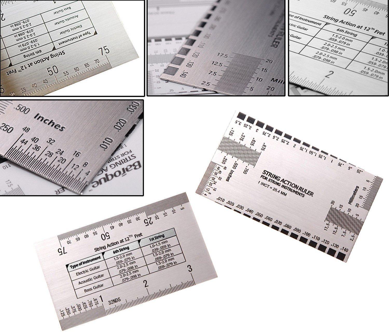 akface guitar string action ruler gauge tool measuring