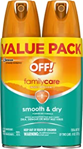 OFF! Family Care Insect & Mosquito Repellent I, Smooth & Dry Bug Spray for the Beach, Backyard, Picnics and More, 4 oz. (Pack of 2)