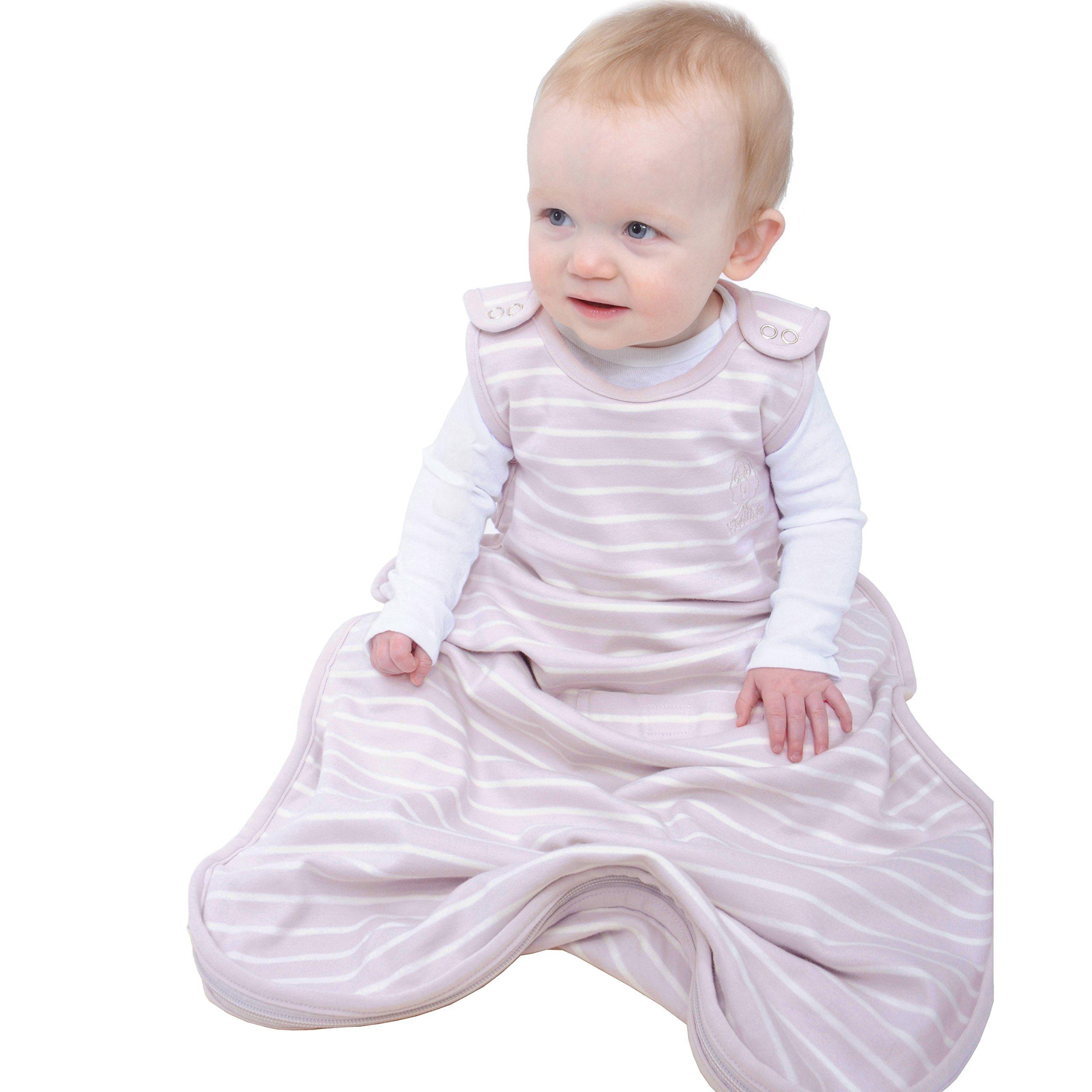 Woolino Merino Wool Baby Sleeping Bag - 4 Season, 2Mo - 2Yrs, Lilac