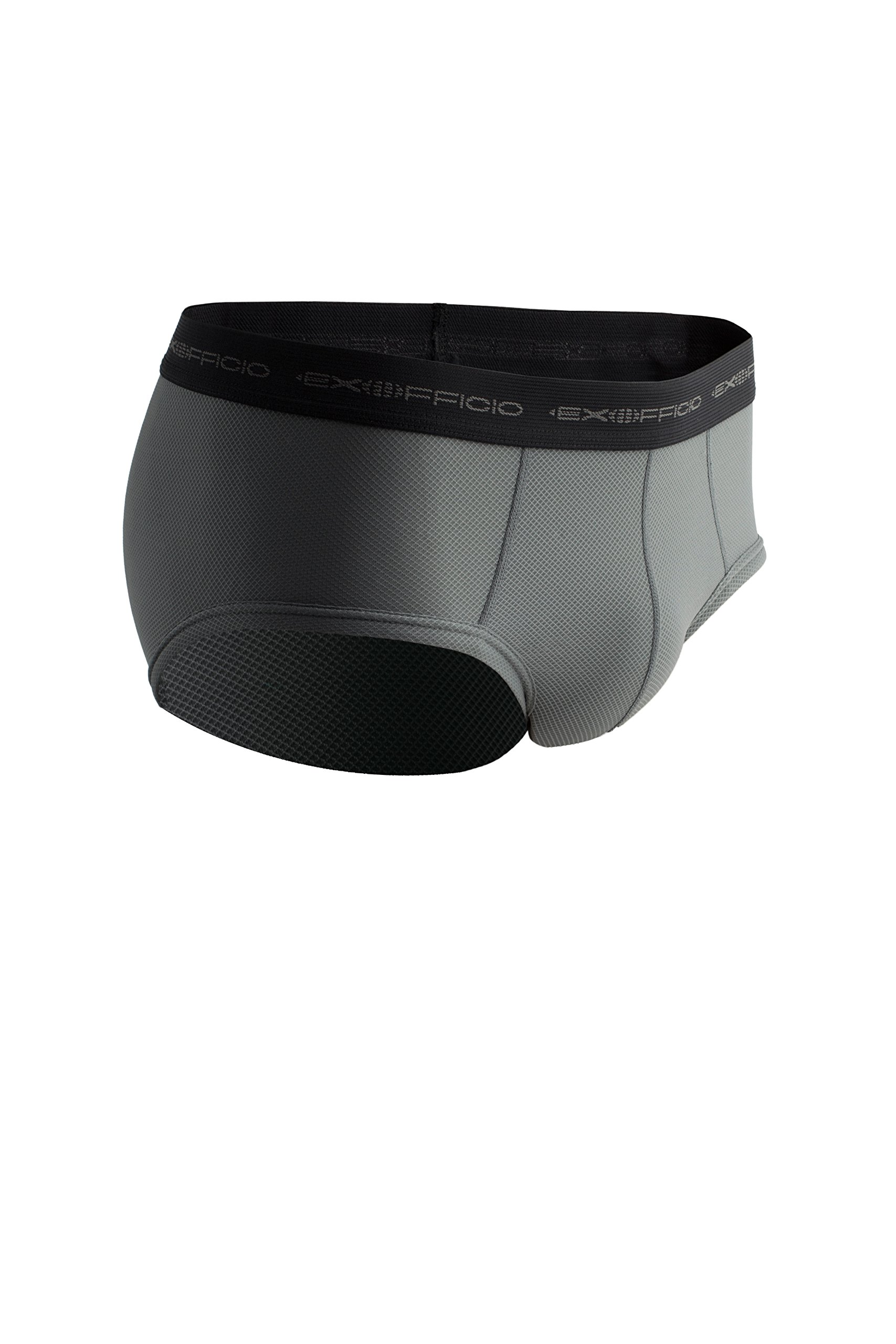 ExOfficio Men's Give-N-Go Flyless Brief, Charcoal, Medium by ExOfficio