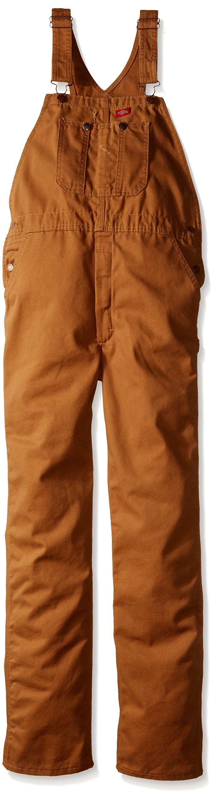 Dickies Little Boys' Duck Bib Overall, Brown Duck, Small (4)