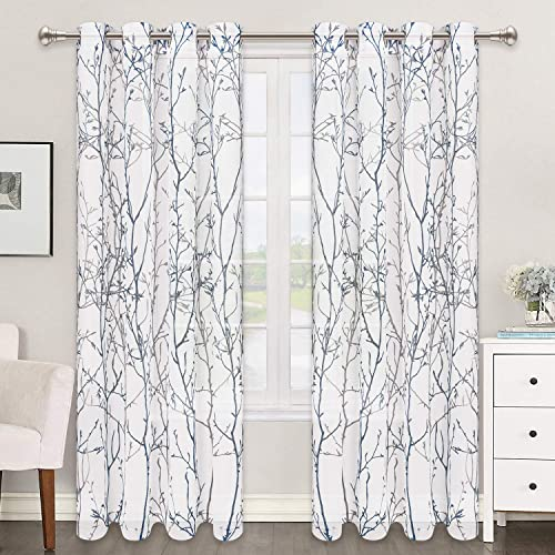 Reviewed: Curtains Semi Sheer Window Curtains Tree Branches Drapes Linen Panels Grommet Window Curtains