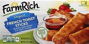 RICH PRODUCTS Farm Original 7.81 lb frozen French Toast Sticks, 124.96 Oz