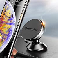 Humixx Magnetic Car Phone Mount, 360° Adjustable Dashboard Mobile Phone Holder Magnetic Car Mount Cradle compatible with iPhone X/XR/XS, Samsung Galaxy S10/9/8/7, HTC and More (Black)