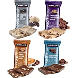 Kirkland Signature Protein Bars Variety Pack (20 Count) 5 of Each, All 4 Flavors - Chocolate Chip Cookie Dough, Chocolate Peanut Butter Chunk, Chocolate Brownie, and Cookies & Cream 2.12oz