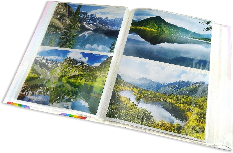 Mareli /Álbum de Fotos con Bolsillos 200 Fotos de 13 x 18 cm