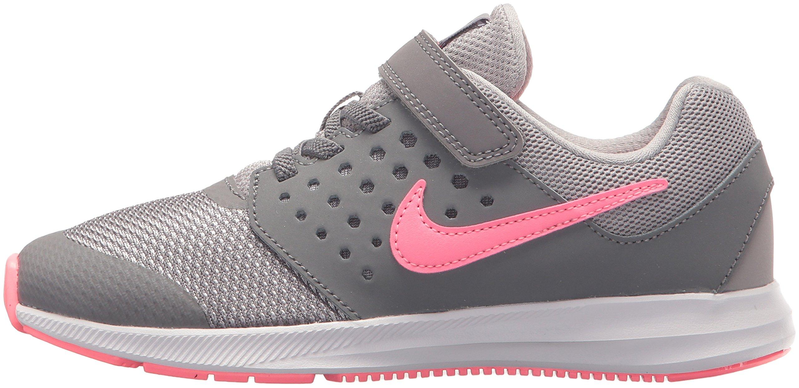 Nike Girls' Downshifter 7 (PSV) Running Shoe, Gunsmoke/Sunset Pulse-Atmosphere Grey, 2 M US Little Kid by Nike (Image #5)
