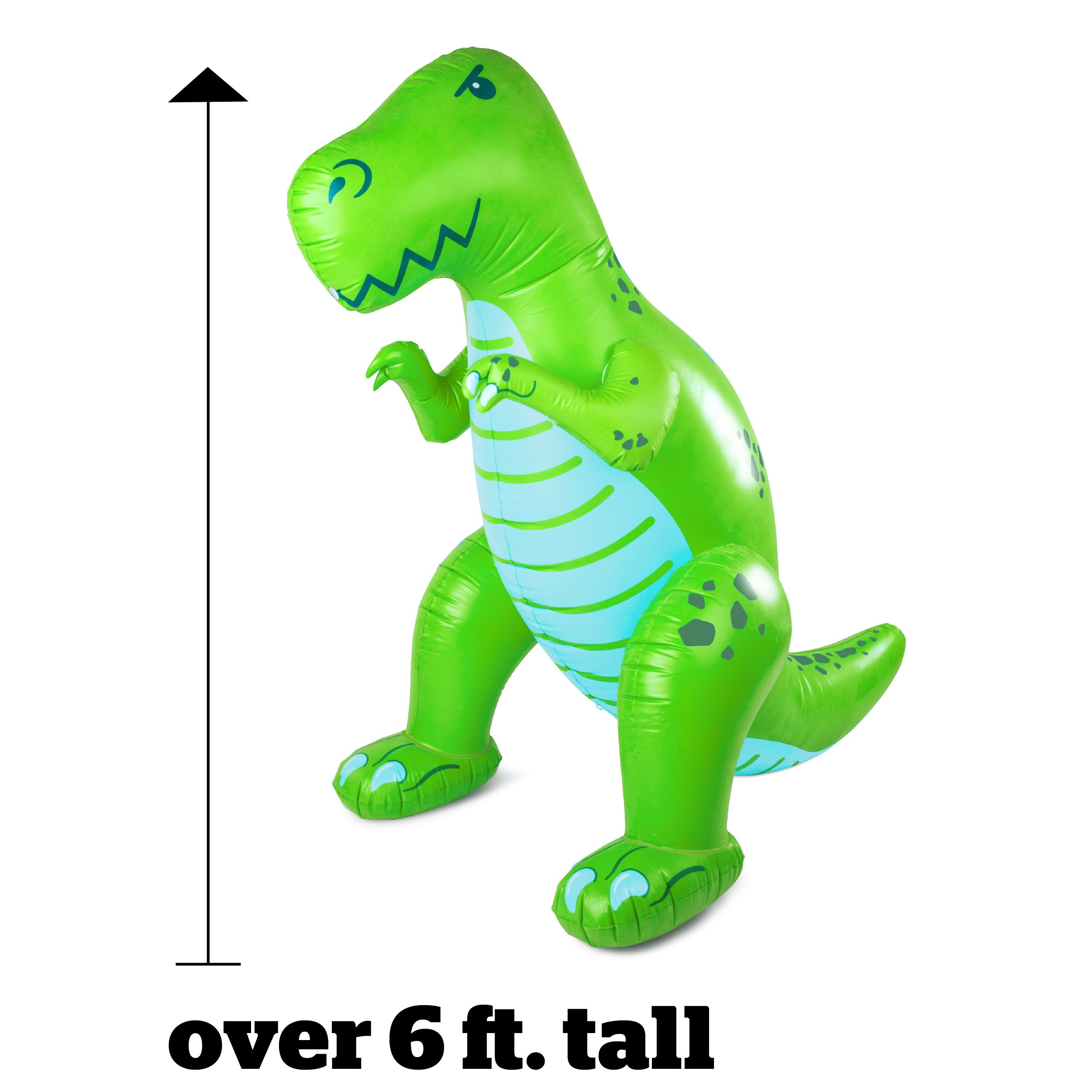 BigMouth Inc. Ginormous Inflatable Green Dinosaur Yard Summer Sprinkler, Stands Over 6 Feet Tall, Perfect for Summer Fun by BigMouth Inc (Image #3)
