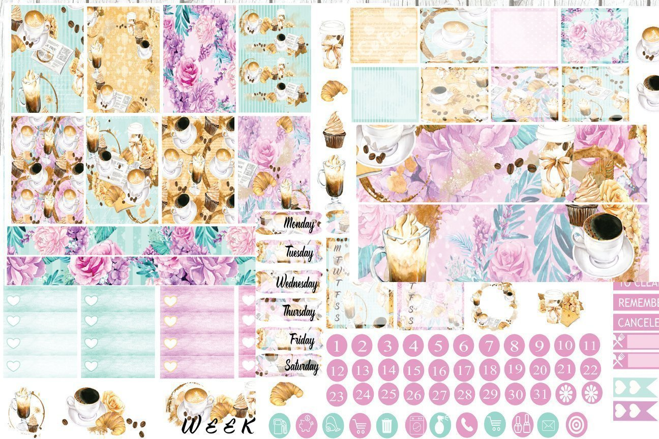 Matte Planner Stickers  Perfect for your Erin Condren Life Planner  WKV0140 Ros\u00e9 VERTICAL Weekly Kit  140