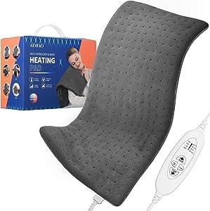 Electric Heating Pad, ATMOKO Heating Pad for Back Pain, 15.75 x 27.56