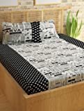 Story@Home Forever 240 TC Cotton Bedsheet with 2 Pillow Covers - King Size, White