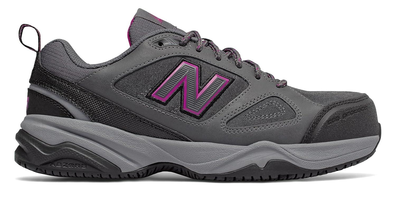 (ニューバランス) New Balance 靴シューズ レディースワーク Steel Toe 627v2 Leather Black with Purple ブラック パープル US 10.5 (27.5cm) B078V2QHRK