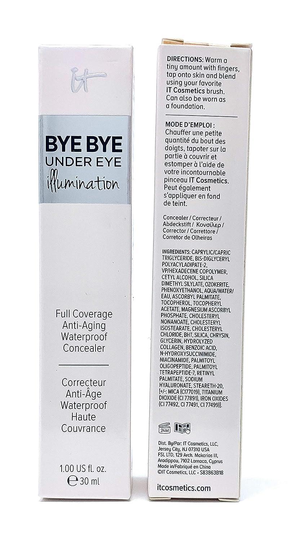 it Cosmetics Bye Bye Under Eye Illumination Full Coverage Anti-Aging Concealer, Medium Tan (Warm Medium), 1 Ounce Supersize