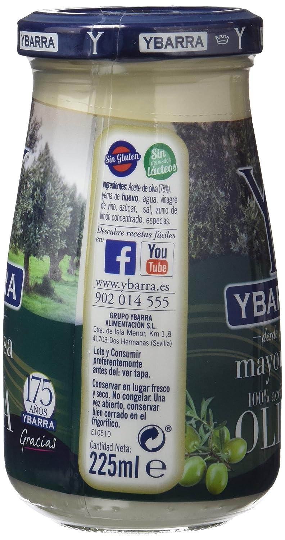 Ybarra Mayonesa Aceite de Oliva - 225 ml: Amazon.es: Alimentación y bebidas
