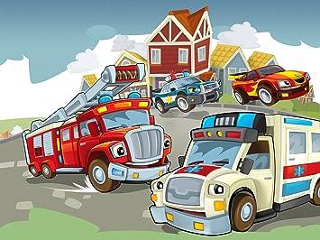 Fototapete kinderzimmer baustelle  Vlies Fototapete / Tapete / XXL Poster für Kinderzimmer ...