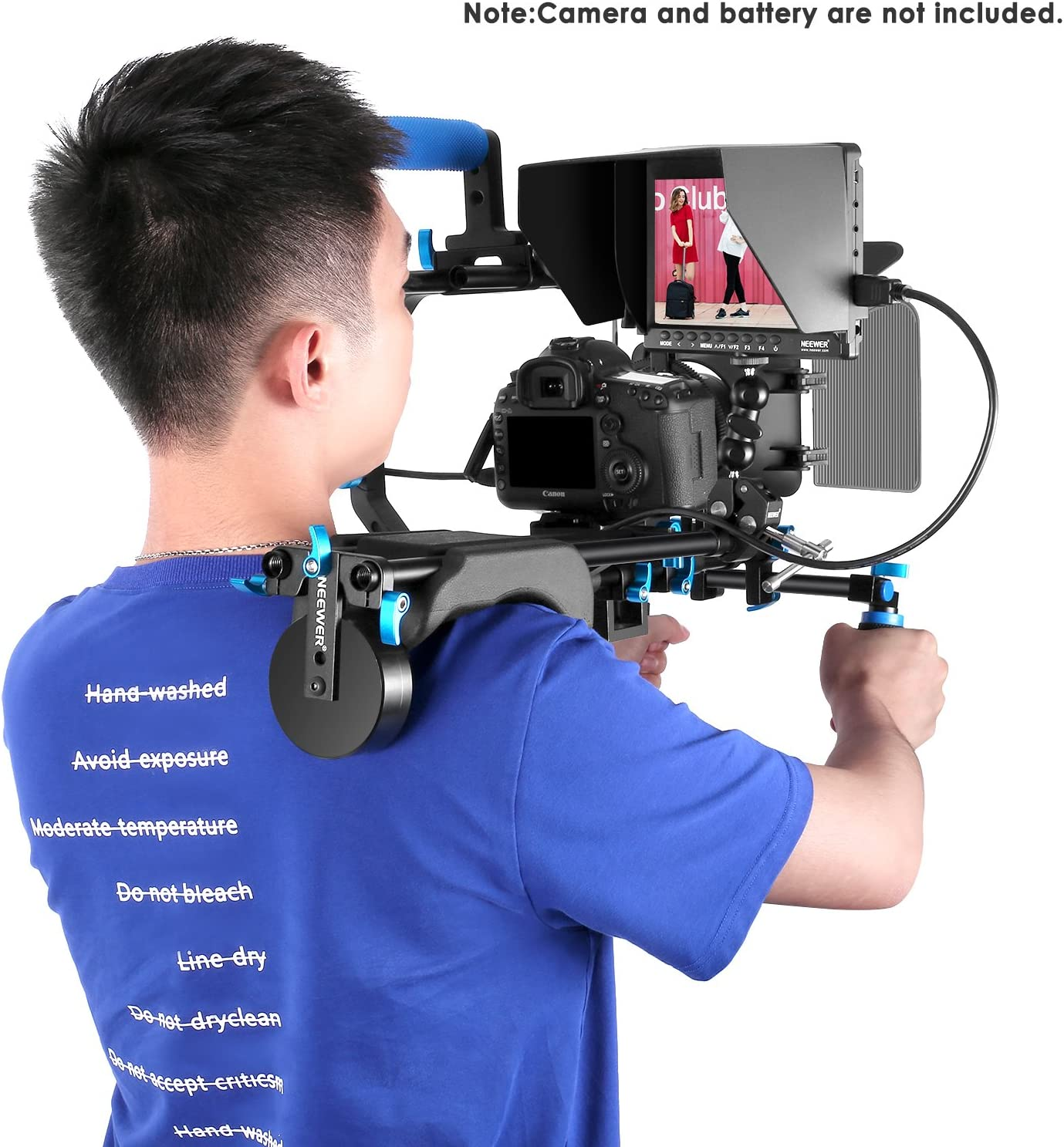and Ballhead Arm for DSLR Cameras Video Camcorders Support 4k Input Neewer Film Movie Video Making System Kit with F100 7-inch 1280x800 IPS Screen Field Monitor Battery not Included
