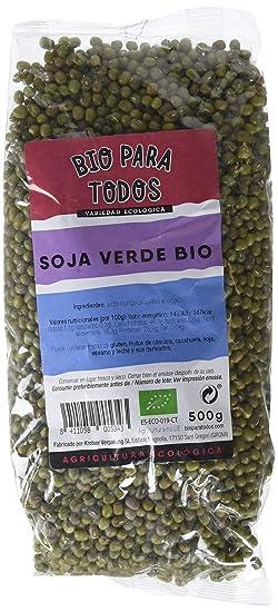 Bio para todos Soja Verde Mungo - 10 Paquetes de 500 gr - Total: 5000