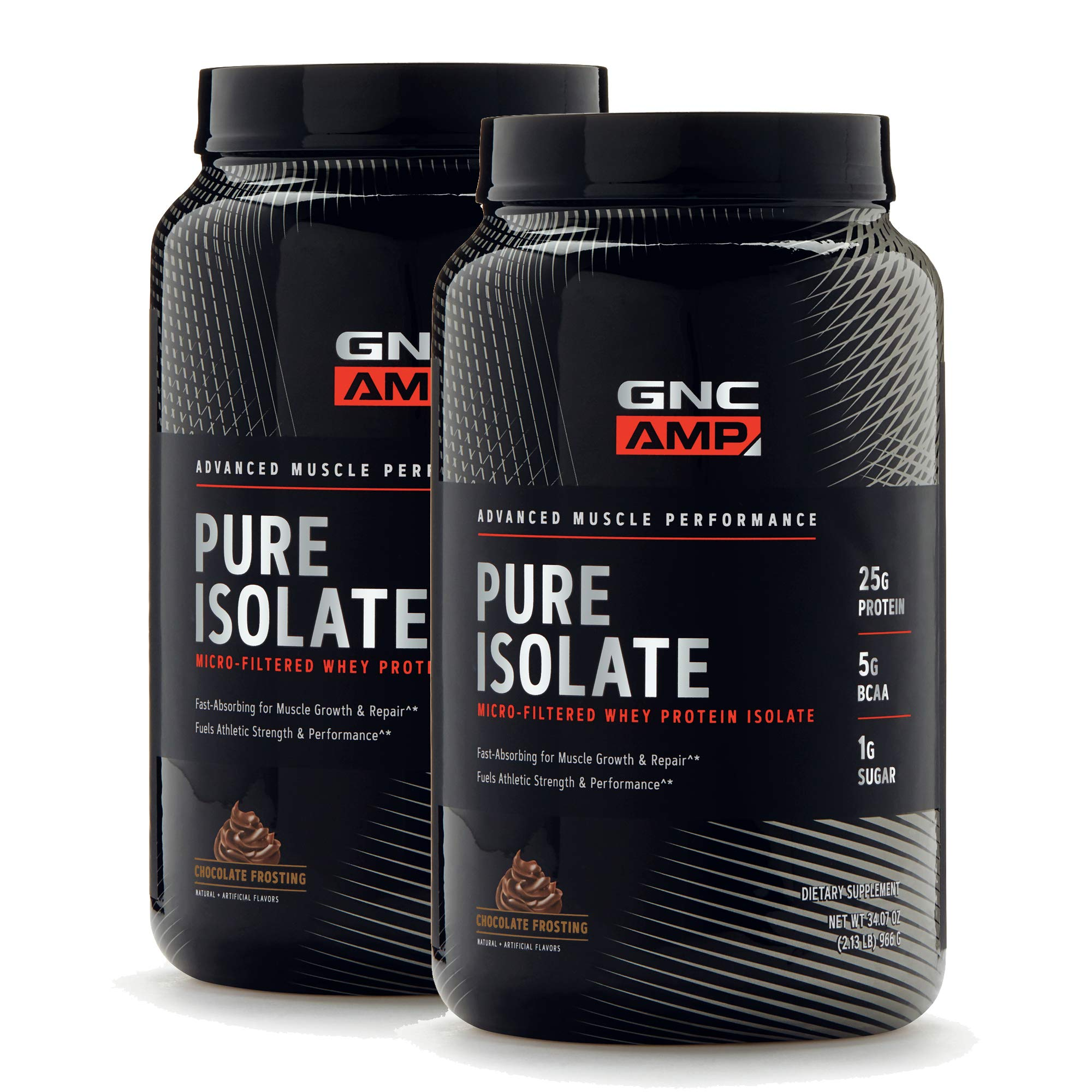 GNC AMP Pure Isolate - Chocolate Frosting - Twin Pack by GNC